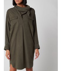 kenzo women's cowl collar dress - fern - uk 10/eu 40