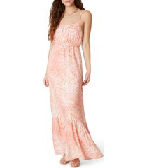 women's bb dakota islands in the stream palm print maxi dress