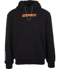 mcq alexander mcqueen black hoodie with slogan print man