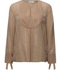 day blanket blouse lange mouwen beige day birger et mikkelsen