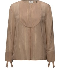 day blanket blouse lange mouwen beige day birger et mikkelsen