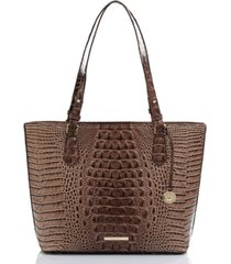 brahmin medium misha melbourne embossed leather tote