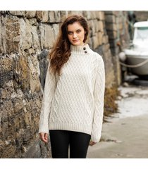 womens glengarriff cream aran sweater small