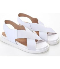 sandalia blanca heyas renza