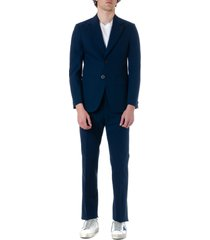 maison margiela midnight-blue cotton suit