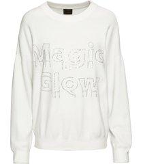 maglione con strass (bianco) - rainbow