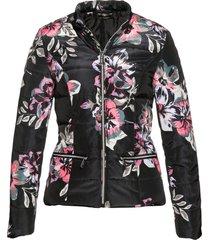 giacca trapuntata a fiori (nero) - bpc selection