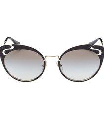miu miu women's 54mm cat eye sunglasses - black gold