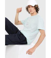 camiseta azul aguamarina lacoste