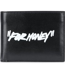 """off-white """"for money"""" printed wallet - black"""