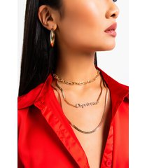 akira capricorn pave layered necklace