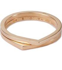 'antifer' 18k rose gold double row ring