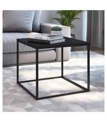 mesa lateral industrial quadrada artesano cube média