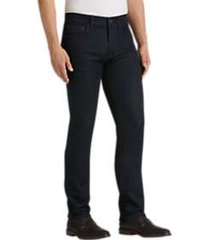 joseph abboud dark blue wash slim fit french terry jeans
