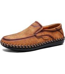 scarpe casual in pelle microfibra con cucito
