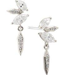 nadri nix small shard shaky earrings in rhodium at nordstrom
