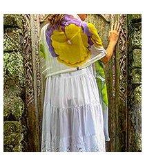 silk shawl, 'orchid sensation' (indonesia)