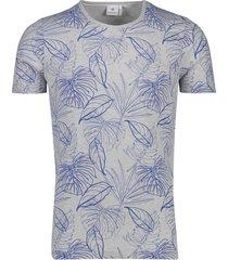 blue industry t-shirt grijs blauw bladeren
