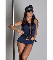 fantasia sensual police 341 garota veneno