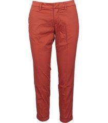fay capri cotton trousers
