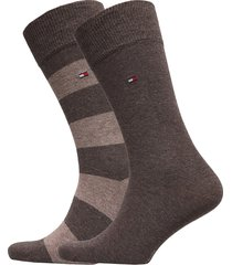 th men rugby sock 2p underwear socks regular socks brun tommy hilfiger