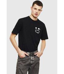 polera t just t14 t shirt 900 negro diesel