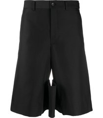 comme des garçons homme plus knee-length multi-pocket tailored shorts