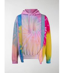 needles reworked hooded tie-dye sweatshirt