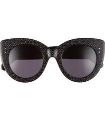women's alaia 48mm cat eye sunglasses - black