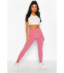 petite rib leggings, pink