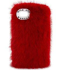 mink fur iphone 7 case