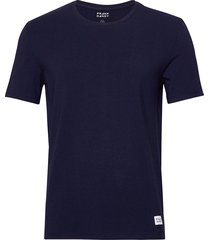 bamboo straight tee t-shirts short-sleeved blå frank dandy