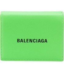 balenciaga cash mini wallet - green