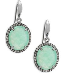 chrysoprase & pavè diamond drop earrings