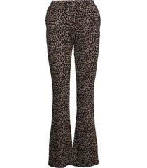 abdel pants broek met wijde pijpen bruin modström