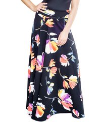 falda martina negro flores colores natalia seguel