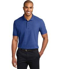 port authority k510 soil & stain-resistant polo shirt - royal