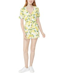 bcbgeneration button-front lemonade romper