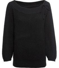 maglione con spalle scoperte e stringatura (nero) - rainbow