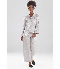 natori decadence pajamas / sleepwear / loungewear set, women's, silver, size l natori