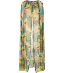 amir slama sheer cape dress - multicolour