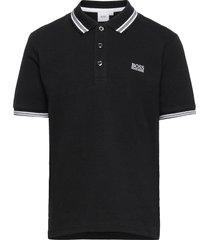 short sleeve polo t-shirts polo shirts zwart boss