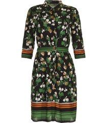 jurk met bloemenprint fani  groen