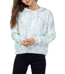 women's rails nico hooded sweatshirt, size x-small - blue/green