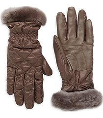quilted shearling gloves