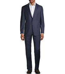 milburn iim series t regular-fit check wool suit