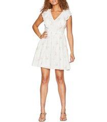bcbgeneration cotton ruffled fit & flare dress