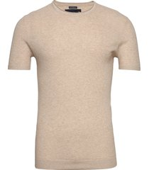 sweater t-shirts short-sleeved beige abercrombie & fitch