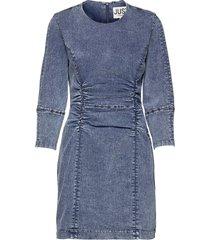 glacier denim dress dresses jeans dresses blå just female