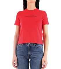 calvin klein j20j212879 t-shirt women red